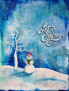 #nanojoumo2015, let it snow, winter, snowman